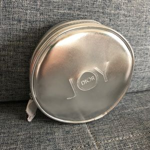 Dior Joy small round Silver Pouch or cosmetic bag